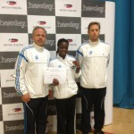 2012 Women's Foil Silver Medalist Ayesha fihosy and Coaches Tomek and Jon
